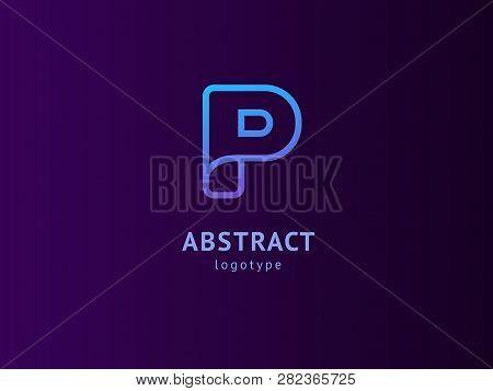 Monogram Design Elements, Graceful Template. Calligraphic Elegant Logo Design. P Logo Line Art Monog