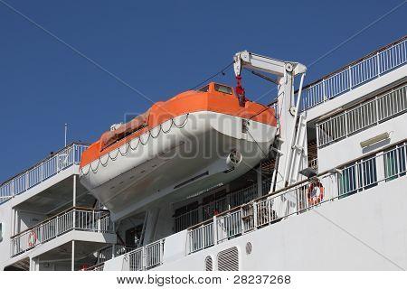 Lifeboat On A Davit