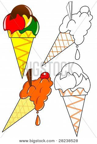 Coloring book - Ice cream