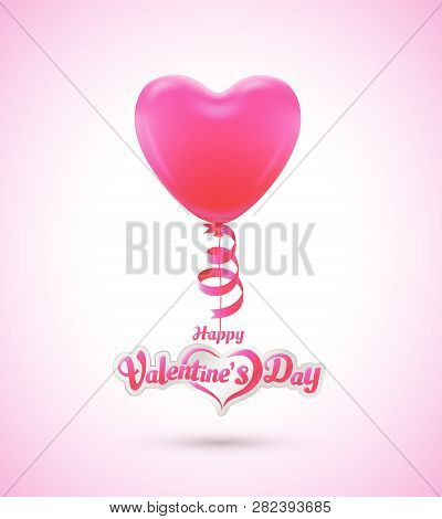 Balloon Heart For Love Event Poster And Card Valentine's Day
