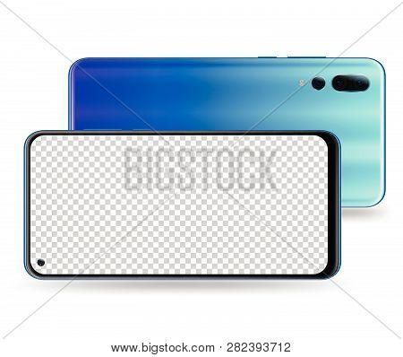 Realistic Smartphone Mockups. Stock Vector Illustration Web Element, Game Demo And Application Mocku
