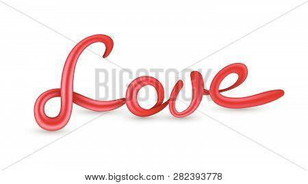 Love 3D Lettering Vector Illustration