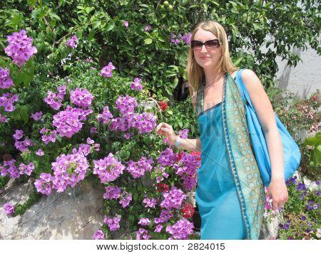 Female In The Garden