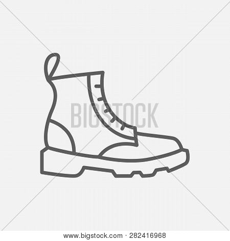 Dr Martens Icon Line Symbol. Isolated Vector Illustration Of  Icon Sign Concept For Your Web Site Mo