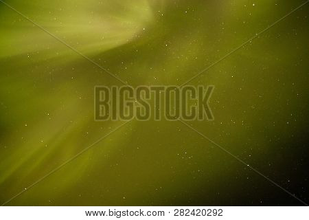 Greenish Variant Of Northern Light In Far North America