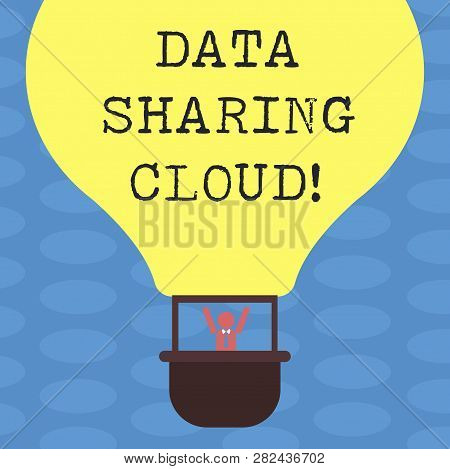 Word Writing Text Data Sharing Cloud. Business Concept For Using Internet Technologies To Share File