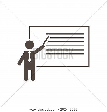 Teach Icon In Trendy Design Style. Teach Icon Isolated On White Background. Teach Vector Icon Simple