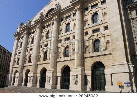 Italian Stock Exchange in Milan