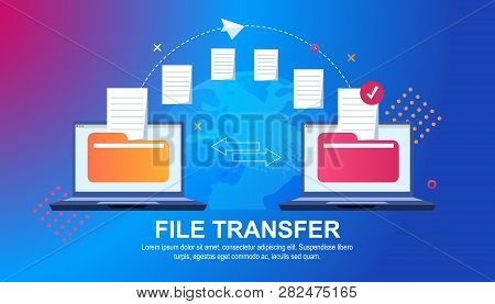 File Transfer. Files Transferred Encrypted Form. Program For Remote Connection Between Two Computers