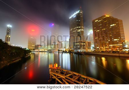 TAMPA - DECEMBER 26: Downtown Tampa along the Hillsborough River December 26, 2011 in Tampa, FL. The metropolitan area currently has 69 high rises, the 2nd most in the state after Miami.