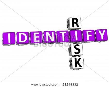 3D Identify Risk Crossword