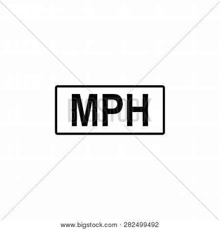 Mile, Kilometer, Hours Icon. Signs And Symbols Can Be Used For Web, Logo, Mobile App, Ui, Ux