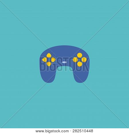 Joypad Icon Flat Element. Vector Illustration Of Joypad Icon Flat Isolated On Clean Background For Y