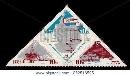 Ussr- Soviet Union Circa 1966: Soviet Postage Stamp Mark Dedicated To The Tenth Anniversary Of The B