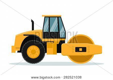 Flat Roll Vector Design. Heavy Machinery, Vector Design Of Heavy Machinery Used In The Mining Indust