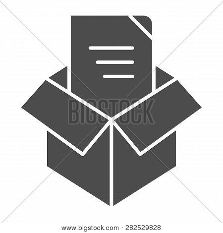 Unpacking Solid Icon. Box Unpack Concept Vector Illustration Isolated On White. File Unpacking Glyph