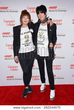 LOS ANGELES - FEB 04:  Frances Fisher and Diane Warren arrives for AARP's Movies For Grownups Awards 2019 on February 4, 2019 in Beverly Hills, CA