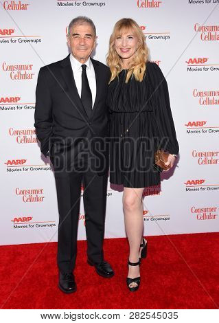 LOS ANGELES - FEB 04:  Robert Forster and Denise Grayson arrives for AARP's Movies For Grownups Awards 2019 on February 4, 2019 in Beverly Hills, CA