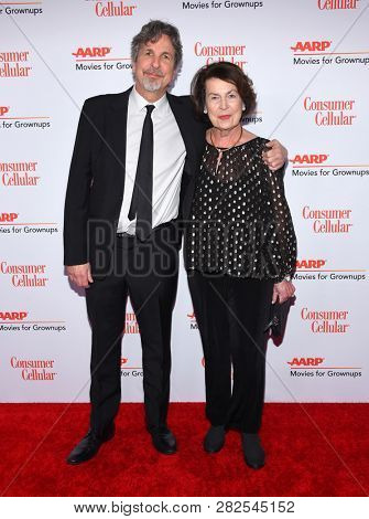 LOS ANGELES - FEB 04:  Peter Farrelly and Mariann Farrelly arrives for AARP's Movies For Grownups Awards 2019 on February 4, 2019 in Beverly Hills, CA