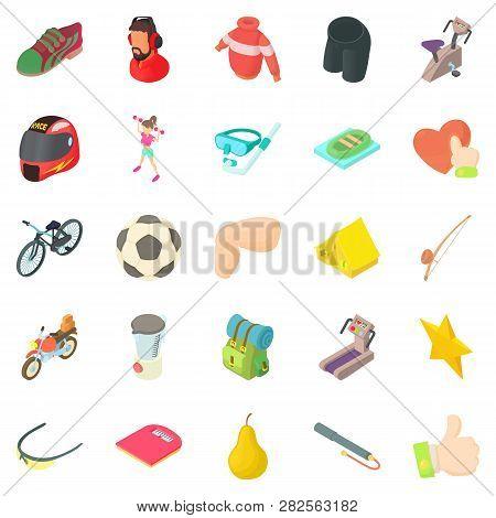 Stamina Icons Set. Cartoon Set Of 25 Stamina Icons For Web Isolated On White Background
