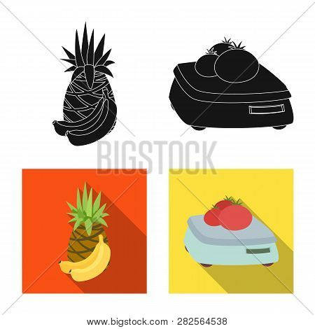 Vector Design Of Food And Drink Symbol. Set Of Food And Store Stock Symbol For Web.