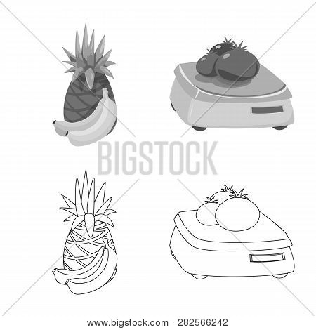 Vector Illustration Of Food And Drink Icon. Collection Of Food And Store Stock Vector Illustration.