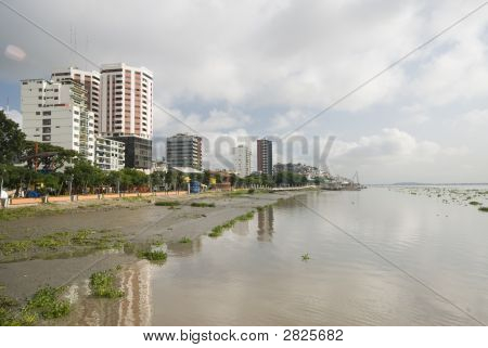 View Of Guayaquil Ecuador From Malecon 2000