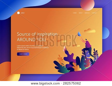 Landing Page Website Vector & Photo (Free Trial) | Bigstock