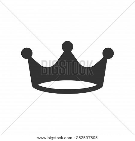 Crown diadem vector icon in flat style. Royalty crown illustration on white isolated background. King, princess royalty concept. poster