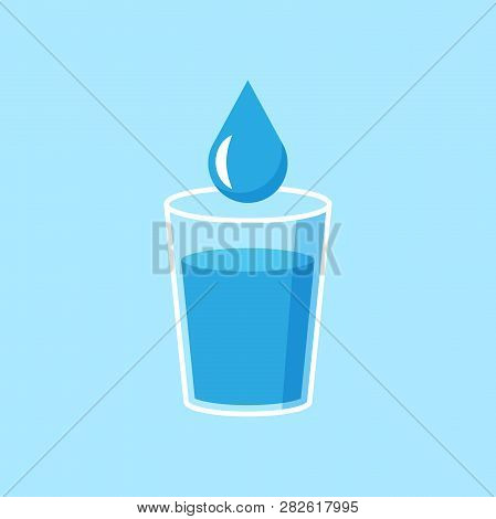 Water Glass Icon Flat Vector & Photo (Free Trial) | Bigstock