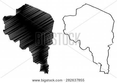 Kerman Province (provinces Of Iran, Islamic Republic Of Iran, Persia) Map Vector Illustration, Scrib