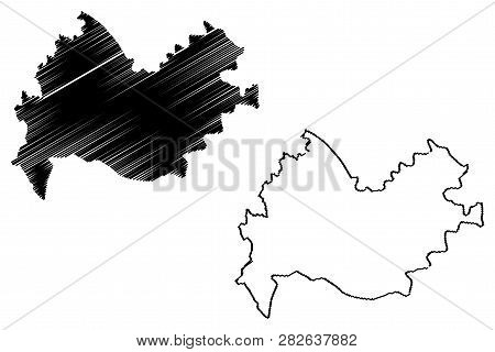 Kermanshah Province (provinces Of Iran, Islamic Republic Of Iran, Persia) Map Vector Illustration, S