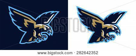Logo Eagle, Hawk. Flying Eagle. Mascot, Bird, Falcon, Bald, Flying, Animal, Freedom, Wing, Wildlife.