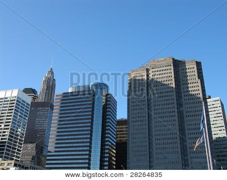 Part of New York City Skyline seen from South Street Seaport
