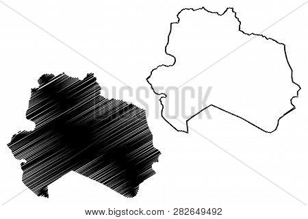 North Khorasan Province (provinces Of Iran, Islamic Republic Of Iran, Persia) Map Vector Illustratio