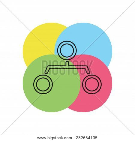 Organization Chart Vector Icon - Hierarchy Structure Graph - Sitemap Sitemap Sign Symbol. Thin Line