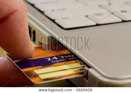 Internet Shopping And Banking 24/7 Card Insertion
