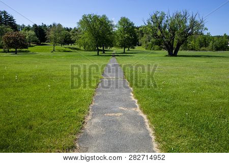 The Path In Battlefield State Park In Lake George New York