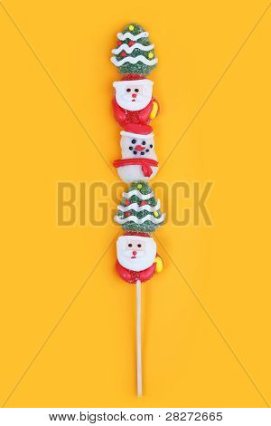 Sugar Candy With A Wooden Stick
