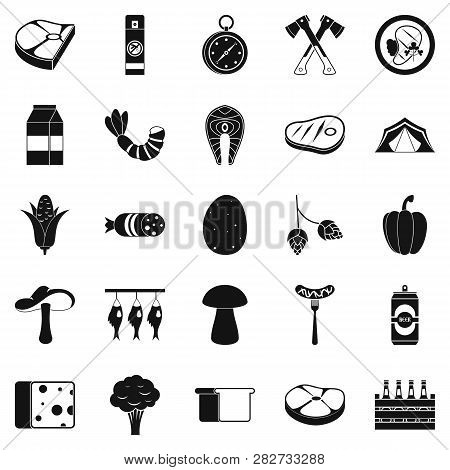 Camping Trip Icons Set. Simple Set Of 25 Camping Trip Icons For Web Isolated On White Background