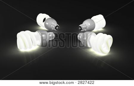 Four Compact Fluorescent