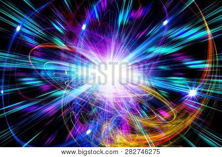 Background, Abstract, Light ,design, Wallpaper ,colorful ,fractal ,idea, Movement ,vibrating ,art ,e