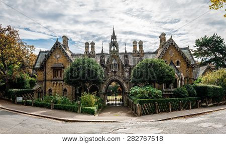 London / Uk - September 16 2018: The Holly Village, A Unique Group Of Cottages In Highgate, North Lo