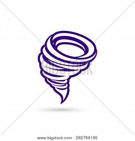 Tornado Vector Icon. Tornado Icon Vector Illustration Design