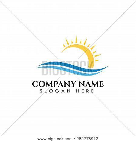 Sunrise Logo Designs Template. Sun Icon Symbol Design