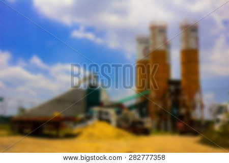 Large Concrete Plant On Sunny Days.