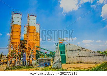A concrete plant, also known as a batch plant or batching plant or a concrete batching plant. Large