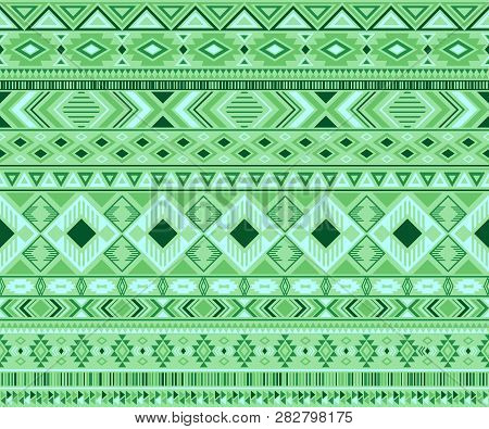 Peruvian American Indian Pattern Tribal Ethnic Motifs Geometric Vector Background. Modern Native Ame