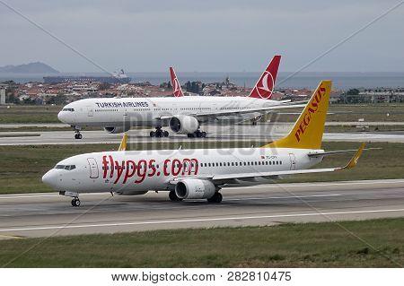 Passenger Airplane At Istanbul Airport (ist)