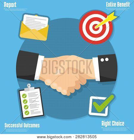 Partnership Concept. Strategic Partnership Vector Illustration Icon